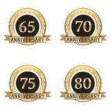 Grupo de selos do aniversário Fotografia de Stock Royalty Free