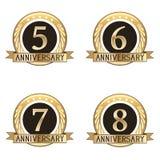 Grupo de selos do aniversário Fotos de Stock Royalty Free