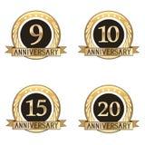 Grupo de selos do aniversário Imagem de Stock