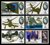 Batalha de selos postais de Grâ Bretanha Imagens de Stock Royalty Free