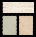 Grupo de selos velhos, verso. Fotos de Stock Royalty Free