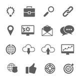 Grupo de SEO e de ícones do desenvolvimento Fotos de Stock Royalty Free