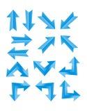 Grupo de seta azul Imagens de Stock Royalty Free