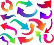 Grupo de setas coloridas curvadas Imagem de Stock Royalty Free