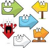 Grupo de setas dos desenhos animados Imagem de Stock Royalty Free
