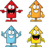 Grupo de setas engraçadas dos desenhos animados Foto de Stock