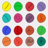Grupo de setas, esboço da garatuja do vetor dos ponteiros Ícones Imagem de Stock Royalty Free