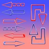 Grupo de setas vermelhas e azuis Imagem de Stock Royalty Free