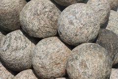 Grupo de shell do almofariz arranjados em ordem imagem de stock royalty free