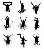 Grupo de silhuetas Imagem de Stock Royalty Free