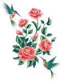 Grupo de silhuetas de plantas tropicais ilustração stock