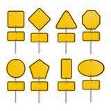 Grupo de sinais amarelos Foto de Stock