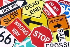 Grupo de sinais de estrada imagem de stock royalty free