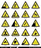 Grupo de sinais de segurança Sinais do cuidado Imagem de Stock Royalty Free