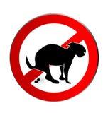 Grupo de sinais deixando cair do cão Foto de Stock
