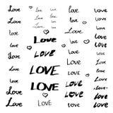Grupo de sinais do amor Imagem de Stock
