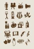 Grupo de sinais do vetor. Formas de arte Fotos de Stock