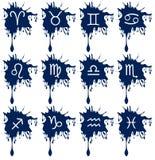 Grupo de sinais do zodíaco no ponto isolado ilustração do vetor
