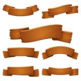 Grupo de sinais de madeira velhos da bandeira Fotos de Stock