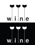 Grupo de sinal do vinho ilustração royalty free
