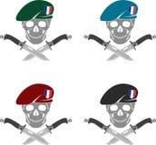 Grupo de sinal de forças especiais de França Imagens de Stock