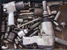 Grupo de sistema de herramientas sucio Foto de archivo libre de regalías
