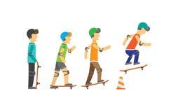 Grupo de skateres libre illustration
