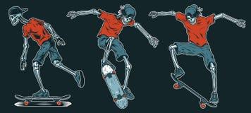 Grupo de skateres dos esqueletos Imagens de Stock Royalty Free