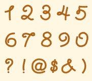 Grupo de símbolos e de números da corda Imagens de Stock