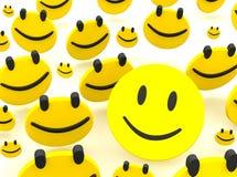 Grupo de smiley Fotografia de Stock
