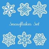 Grupo de Snawflakes Imagem de Stock