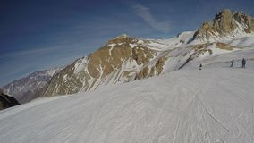 Grupo de snowboarders Foto de Stock