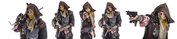 Grupo de sobreviventes do apocalipse do cargo Imagens de Stock