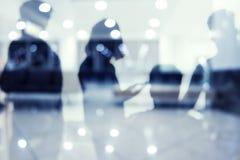 Grupo de socio comercial que busca el futuro Concepto de corporativo y de lanzamiento foto de archivo