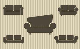 Grupo de sofás Foto de Stock