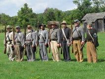 Grupo de soldados confederados Imágenes de archivo libres de regalías