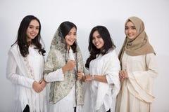 Grupo de sonrisa de las mujeres Imagen de archivo libre de regalías