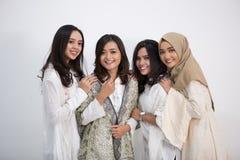 Grupo de sonrisa de las mujeres Foto de archivo libre de regalías