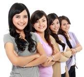 Grupo de sorriso bonito das mulheres Imagens de Stock