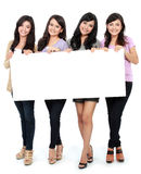 Grupo de sorriso bonito das mulheres Fotos de Stock Royalty Free