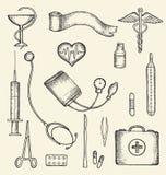 Grupo de subministros médicos Ilustração do Vetor
