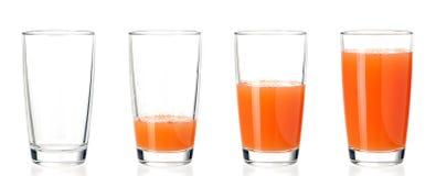Grupo de suco dos vidros Imagens de Stock Royalty Free