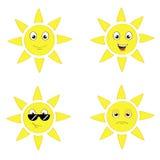 Grupo de Sun Imagens de Stock Royalty Free