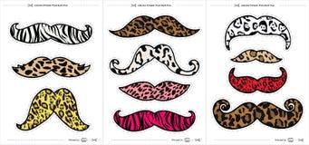 Grupo de suportes do bigode para sessões fotográficas imagens de stock