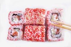 Grupo de sushi com camarão Foto de Stock Royalty Free