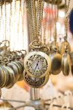 Grupo de suspensão dos relógios de bolso Fotos de Stock Royalty Free