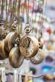 Grupo de suspensão dos relógios de bolso Fotografia de Stock Royalty Free