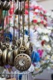 Grupo de suspensão dos relógios de bolso Imagem de Stock Royalty Free