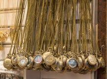 Grupo de suspensão dos relógios de bolso Fotografia de Stock