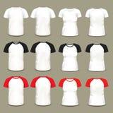 Grupo de t-shirt e de camisas isolados do raglan ilustração stock